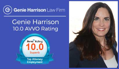 Attorney Genie Harrison AVVO 10.0 rating