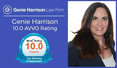 Attorney Genie Harrison AVVO 10.0 rating