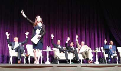 Top attorney Genie Harrison speaking at CAALA Vegas Convention