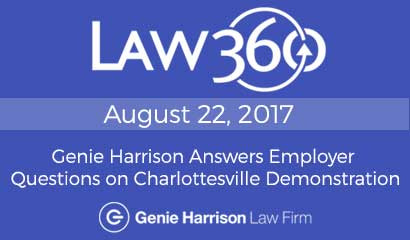 Attorney Genie Harrison answers employer questions regarding Charlottesville demonstrators