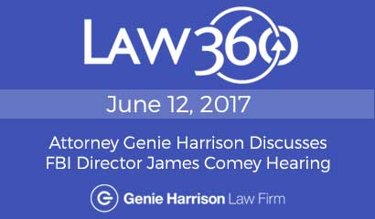 Law360 story on James Comey Hearing