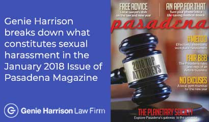 Pasadena Magazine featuring Top Attorney Genie Harrison