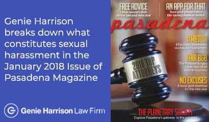 Pasadena Magazine featuring Top Attorney Genie Harrison