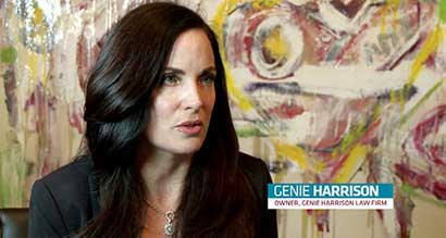 Top sexual harassment attorney Genie Harrison interviewed by Spectrum News