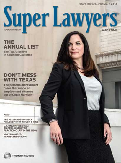 Sexual harassment lawyer Genie Harrison in Super Lawyers Magazine