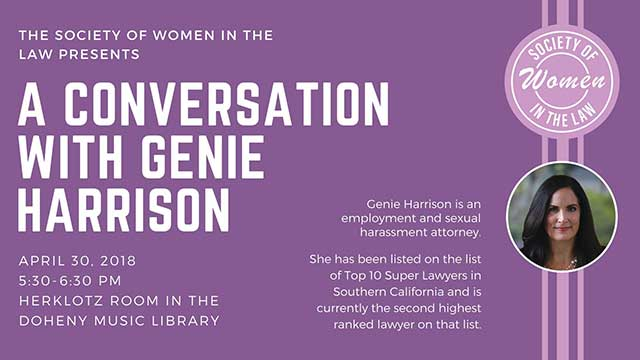 USC Society of Women in the Law presents A Conversation with Genie Harrison