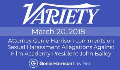 Attorney Genie Harrison comments on John Bailey sexual harassment allegations.