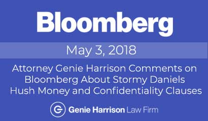 Stormy Daniels Hush Money story at Bloomberg