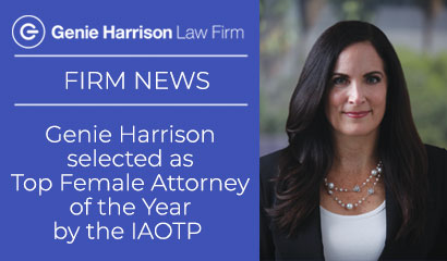 IAOTP Top Female Attorney of the Year Genie Harrison