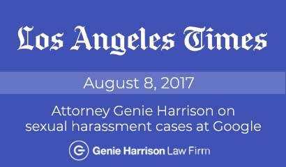 Google sexual harassment case covered in Los Angeles Times
