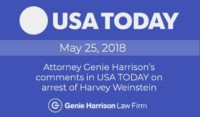 Harvey Weinstein arrest in USA Today