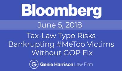 Tax-Law Typo Risks Bankrupting #MeToo Victims Without GOP Fix