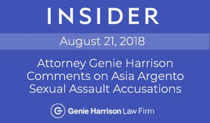 Los Angeles employment attorney Genie Harrison comments on Asia Argento sexual assault accusations to Insider