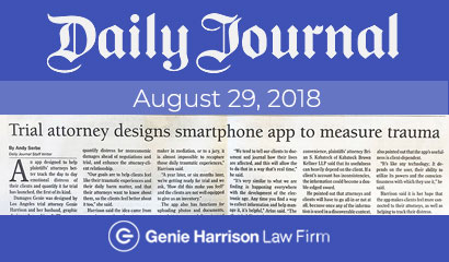 Daily Journal article: Trial attorney designs smartphone app to measure trauma