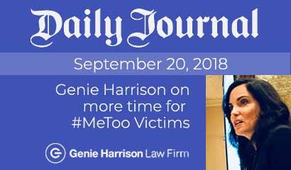 Sexual harassment attorney Genie Harrison comments on more time for #MeToo victims