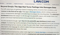 Law.com on Damages Genie app and software for clients and attorneys
