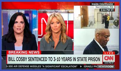 Los Angeles employment attorney Genie Harrison on CNN commenting on Cosby sentencing