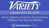 Kevin Spacey sued for sexual battery as reported in Variety