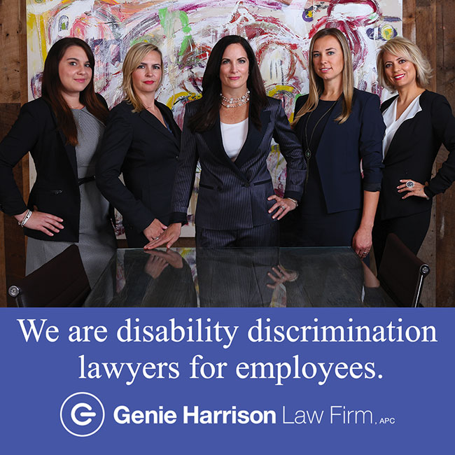 Disability discrimination lawyers at the Genie Harrison Law Firm
