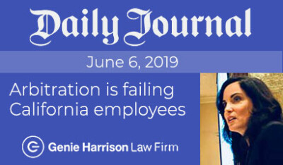 Daily journal arbitration story