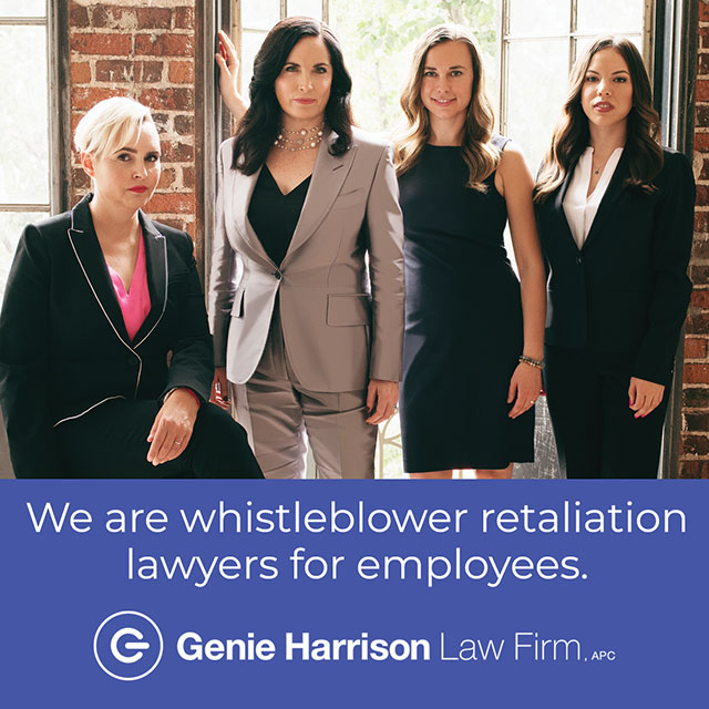 Whistleblower retaliation lawyers at the Genie Harrison Law Firm in California