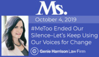 Ms. Magazine #MeToo Story by attorney Genie Harrison