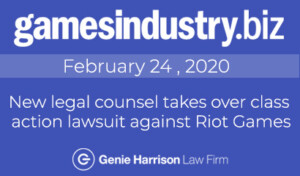 class action lawsuit against Riot Games