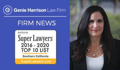 Top Lawyer Genie Harrison represents plaintiffs in California.