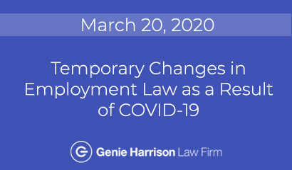 Changes in employment law as a result of COVID-19