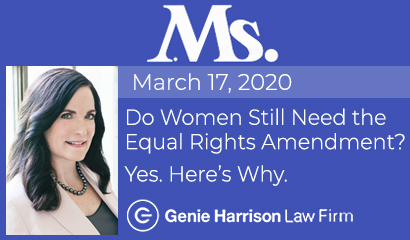 Equal rights amendment story at Ms. Magazine by Genie Harrison