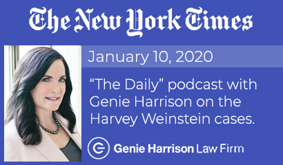 The Daily podcast featuring attorney Genie Harrison on the Harvey Weinstein cases.
