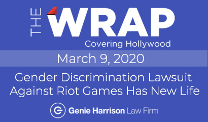 Gender discrimination lawsuit against Riot Games as covered in The Wrap