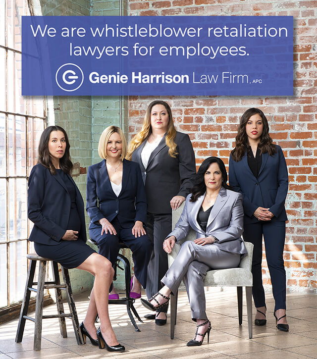 Whistleblower retaliation lawyers at the Genie Harrison Law Firm in California