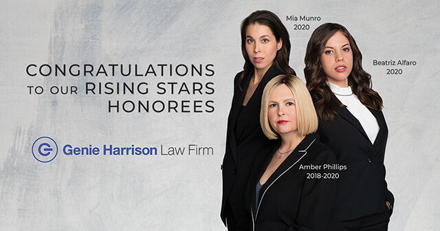 Genie Harrison Law Firm SuperLawyers Rising Stars honorees