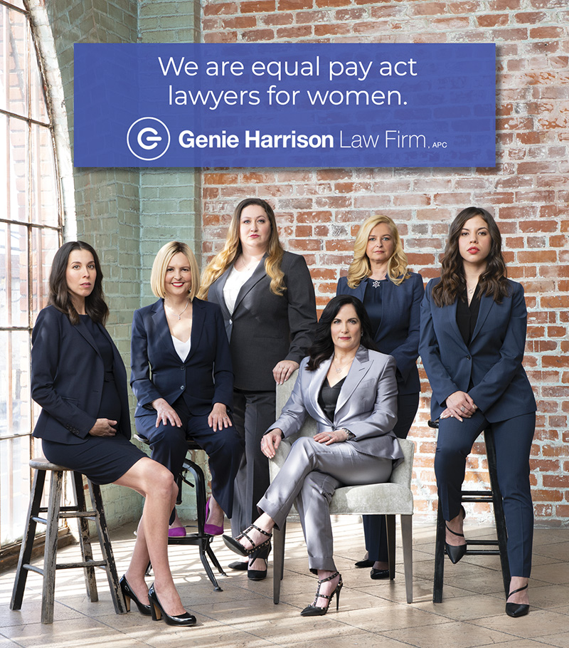Equal pay lawyers and gender discrimination attorneys at the Genie Harrison Law Firm in California.
