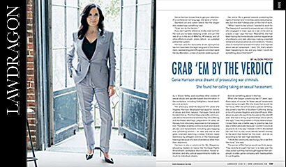 Sexual harassment lawyer Genie Harrison featured in Lawdragon Magazine
