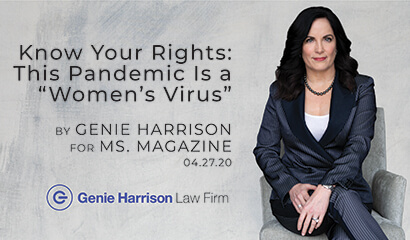 Ms. Magazine story on COVID-19 Pandemic by employment attorney Genie Harrison