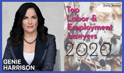 Genie Harrison named to Daily Journal Top Employment Lawyer List
