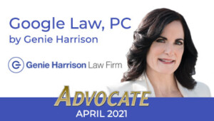 Google Law CAALA Advocate April 2021