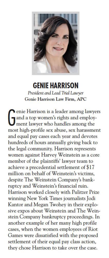Genie Harrison Los Angeles Business Journal Top Attorneys