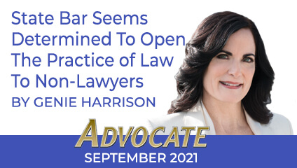 Genie Harrison September 2021 Advocate Column
